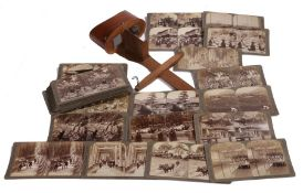 Early 20th century stereoscope with accompanying box of images from Japan