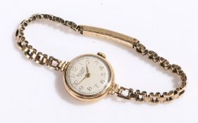 Rotary 9 carat gold ladies wristwatch, the signed white dial with Arabic markers, manual wound,