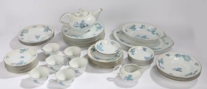 Narumi Japan dinner service, Ming, consisting of plates, saucers, teapot, cups, bowls, serving
