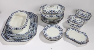 Burgess & Leigh semi-porcelain Leighton pattern part dinner service, consisting of plates,