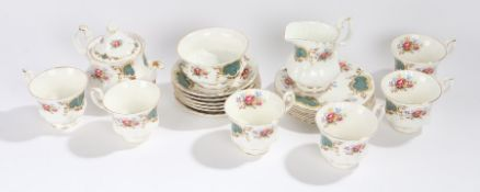 Royal Albert Berkeley pattern tea service, consisting of six tea cups, saucers and side plates,