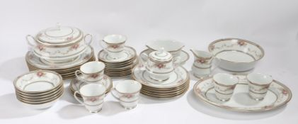 "Noritake ""Long Ago"" dinner service, consisting of plates, bowls, serving dishes, cups, saucers, etc."