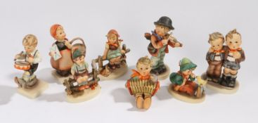 Collection of eight Goebel Hummel figures, to include Wayside Harmony, Little Drummer, Max & Moritz,