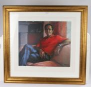 After Anne Mackintosh (Contemporary) Seve Ballesteros, pencil signed limited edition 1/850, 56cm x