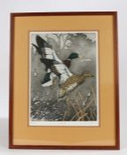 John Akers (American 1944-2006), pencil signed artists proof entitled 'Mates', numbered 74/200,
