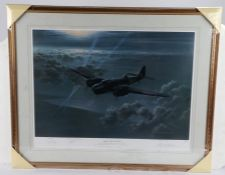 Gerald Coulson, pencil signed limited edition print, 'Night of the Hunter', numbered 337/850, housed