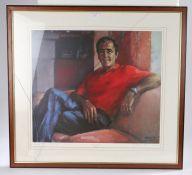 After Anne Mackintosh (Contemporary) Seve Ballesteros, pencil signed Artist proof, 56cm x 50cm