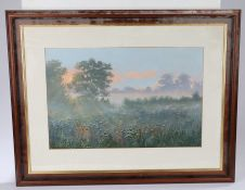 Kevin Hugh Curtis (1958-2009) Morning Mist, signed and dated 99 acrylic, 47cm x 31cm