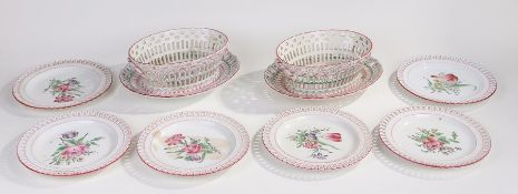 Quantity of K&G Luneville plates, to include two oval platters, six plates and two baskets, each