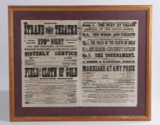 Royal Strand Theatre programme, in black white, housed within a glazed frame, 62cm wide x 50cm