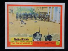 The Horse Soldiers (1959) - American lobby card, starring John Wayne, William Holden, and