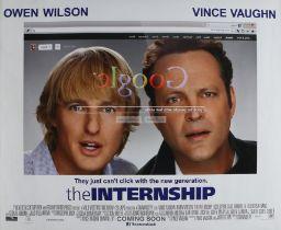 "The Internship (2013) - British Quad film poster, starring Vince Vaughn and Owen Wilson, rolled, 30"""