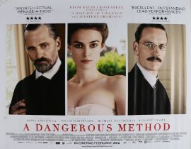 A Dangerous Method (2011) - British Quad film poster, starring Michael Fassbender, Keira Knightley