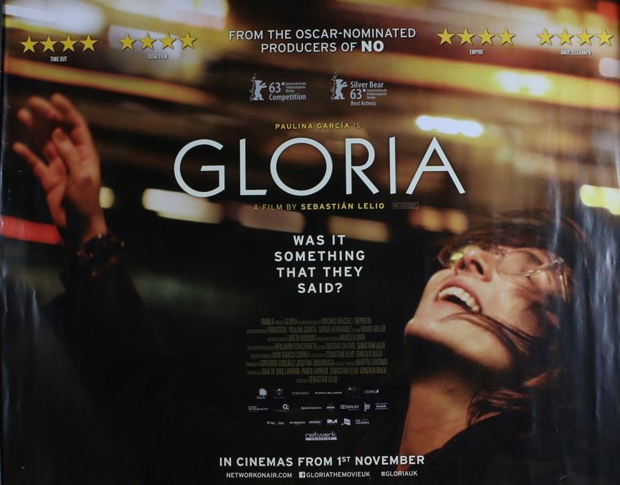 "Gloria (2013) - British Quad film poster, starring Paulina García, rolled, 30"" x 40"""