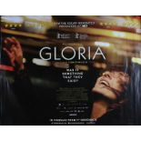 "Gloria (2013) - British Quad film poster, starring Paulina García, rolled, 30"" x 40"""