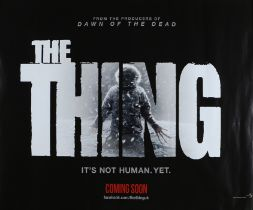 The Thing (2011) - British Quad film poster, starring Mary Elizabeth Winstead, Joel Edgerton, and