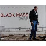 Black Mass (2015) - British Quad film poster, starring Johnny Depp and Benedict Cumberbatch, rolled,