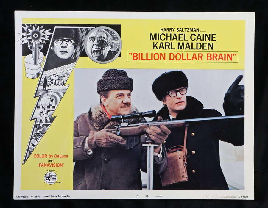 Billion Dollar Brain (1967) - American lobby card, starring Michael Caine, Karl Malden, and Ed