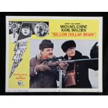 Billion Dollar Brain (1967) - American lobby card, starring Michael Caine, Karl Malden, and Ed