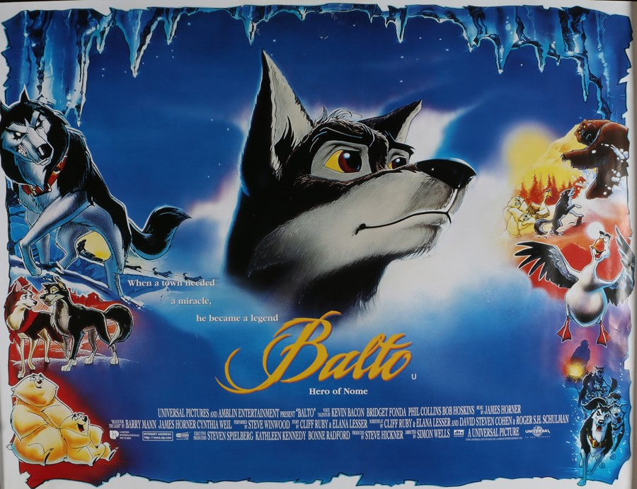 "Balto (1995) - British Quad film poster, rolled, 30"" x 40"""