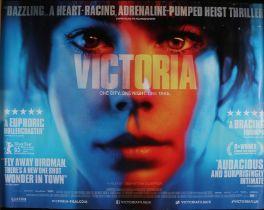 "Victoria (2015) - British Quad film poster, starring Laia Costa and Frederick Lau, rolled, 30"" x"