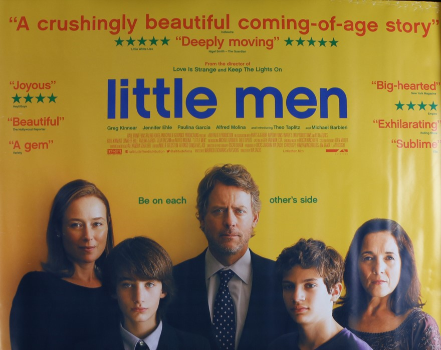 Little Men (2016) - Britsh Quad film poster, starring Greg Kinnear, Jennifer Ehle and Paulina