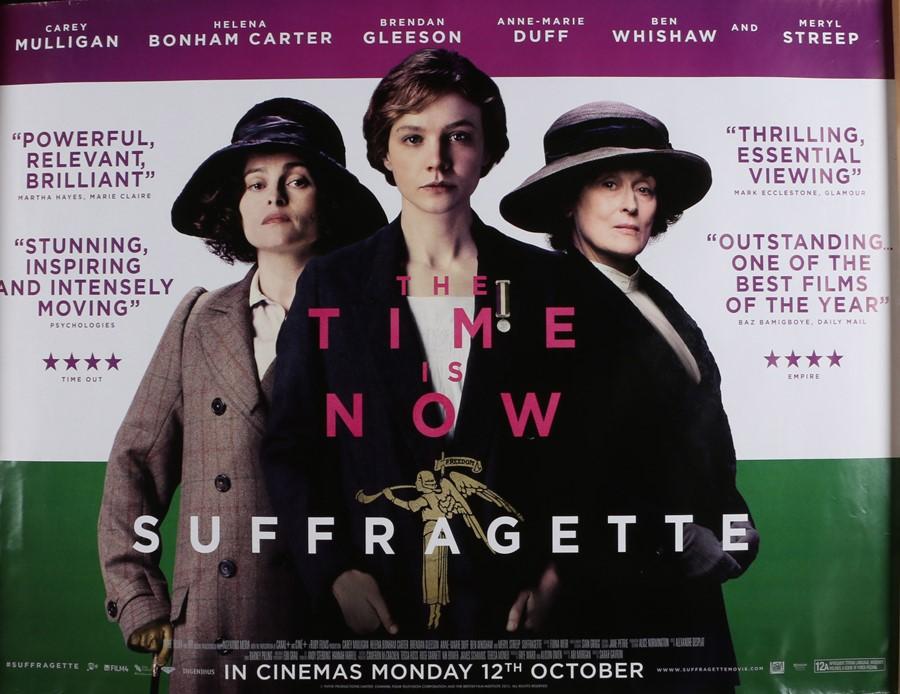 Suffragette (2015) - British Quad film poster, starring Carey Mulligan and Anne-Marie Duff,