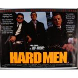 Hard Men (1997) British Quad film poster, starring Vincent Regan, Lee Ross and Ross Boatman, rolled,