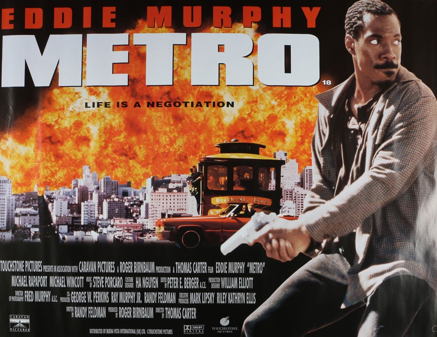 Metro (1997) - British Quad film poster, starring Eddie Murphy, Michael Rapaport and Michael