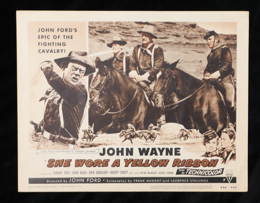 She Wore a Yellow Ribbon (1949) - American lobby card, starring John Wayne, Joanne Dru, and John