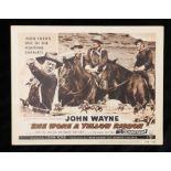 She Wore a Yellow Ribbon (1949) - American lobby card, starring John Wayne, Joanne Dru, and John