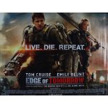 Live Die Repeat: Edge of Tomorrow (2014) - British Quad film poster, starring Tom Cruise and Emily