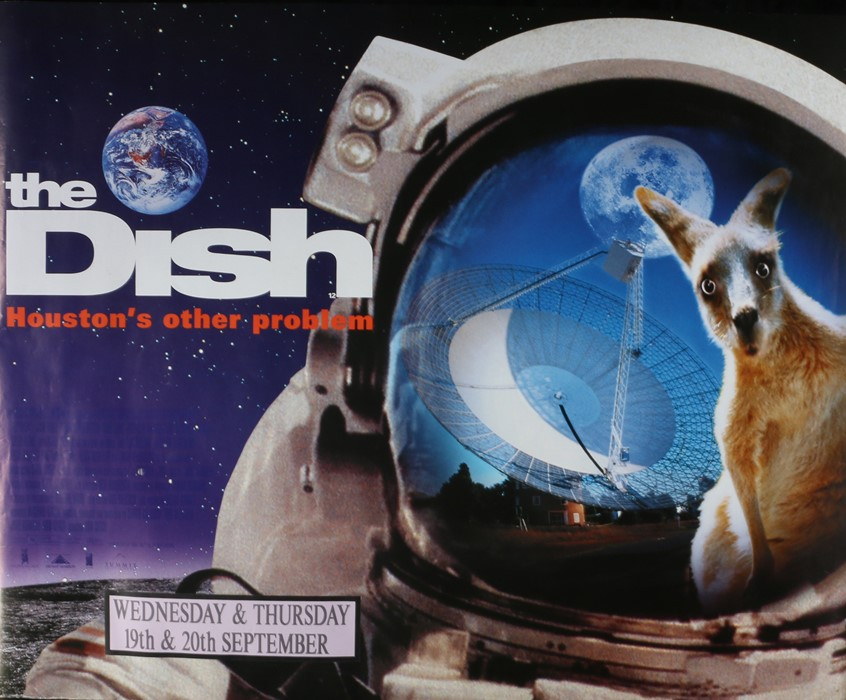 """The Dish (2000) - British Quad film poster, starring Sam Neill and Billy Mitchell, rolled, 30"""" x"""