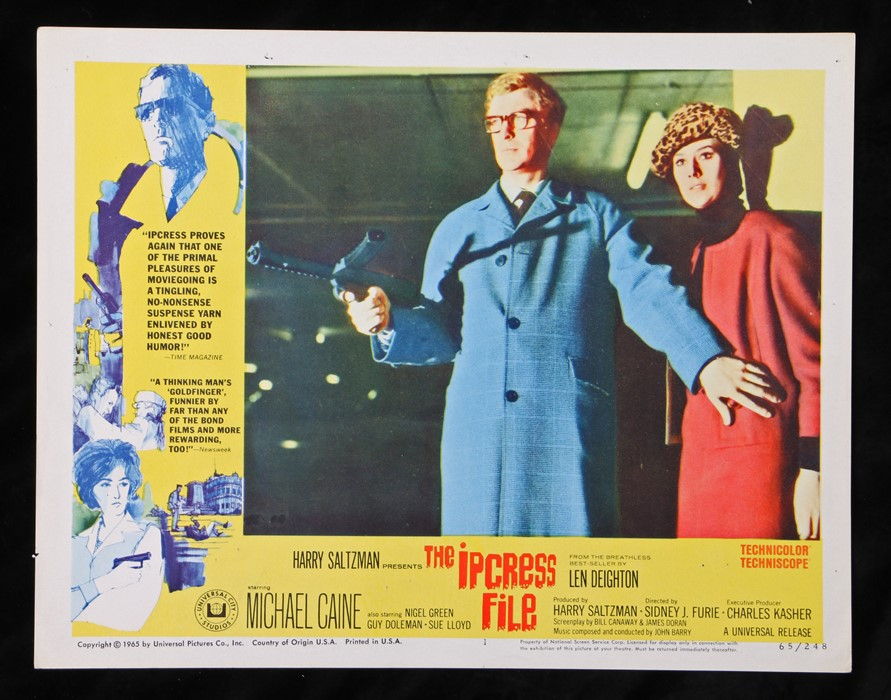 The Ipcress File (1965) - American lobby card, starring Michael Caine, Nigel Green, and Guy Doleman,