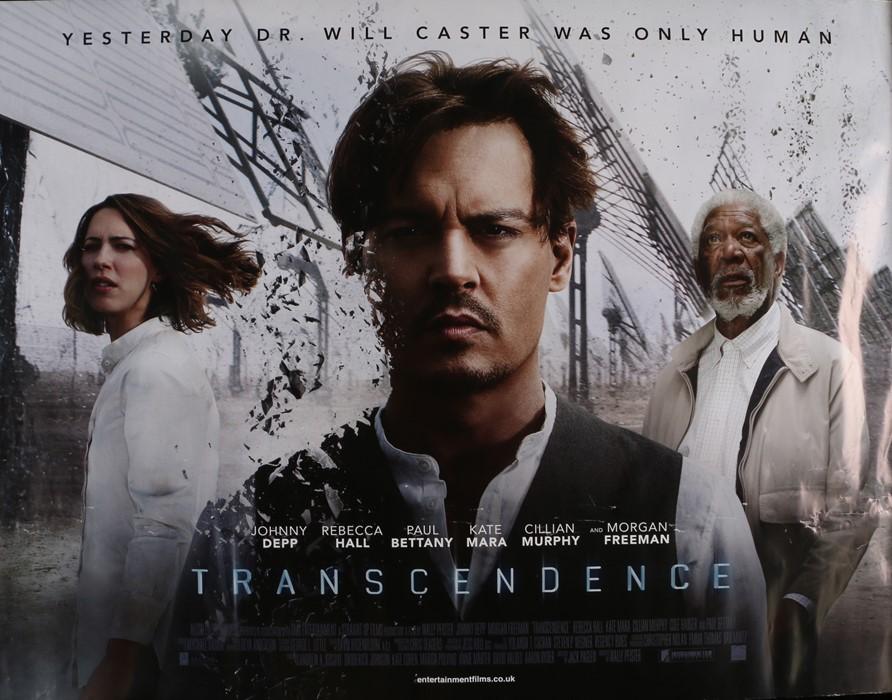 Transcendence (2014) - British Quad film poster, starring Johnny Depp, Morgan Freeman and Rebecca