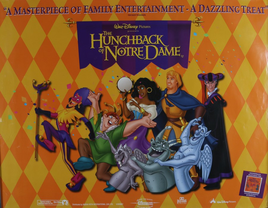 """The Hunchback of Notre Dame (1996) - British Quad film poster, rolled, 30"""" x 40"""""""