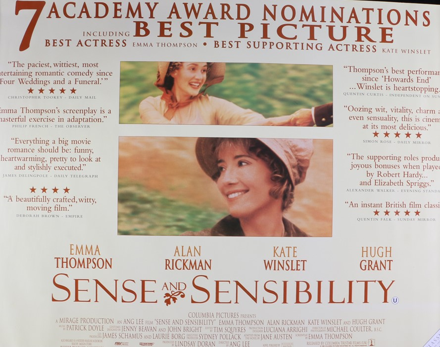 Sense and Sensibility (1995) - British Quad film poster, starring Emma Thompson, Kate Winslet and