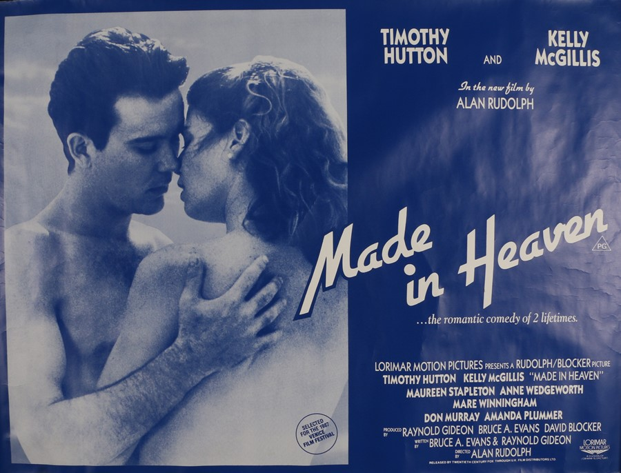 Made in Heaven (1987) - Britihs Quad film poster, starring Timothy Hutton and Kelly McGillis,