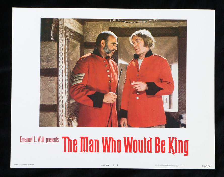 The Man Who Would Be King (1975) - American lobby card, starring Sean Connery, Michael Caine, and
