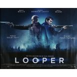 Looper (2012) - British Quad film poster, starring Bruce Willis, Joseph Gordon-Levitt and Emily