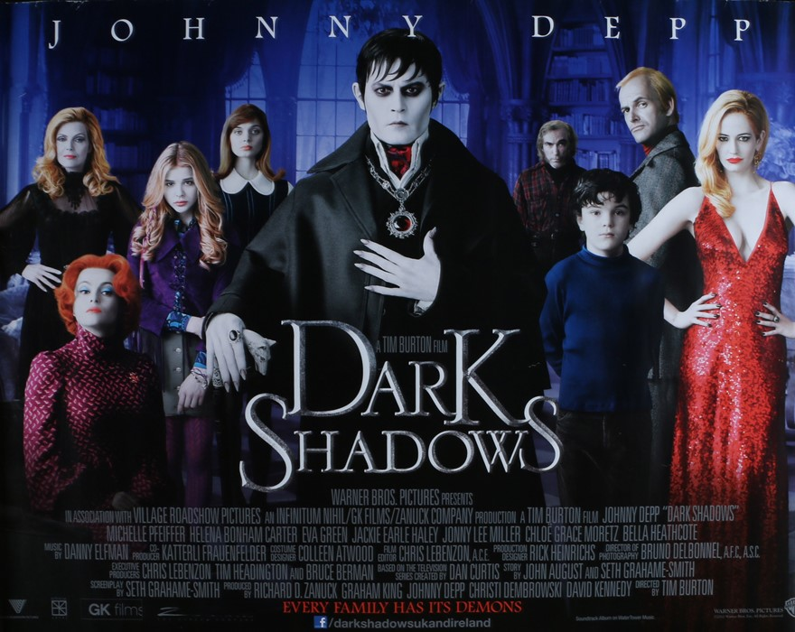 Dark Shadows (2012) - British Quad film poster, starring Johnny Depp, Michelle Pfeiffer, Eva