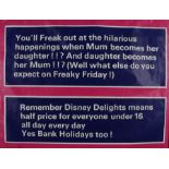 """Disney Delights advertising poster, rolled, 30"""" x 40"""""""