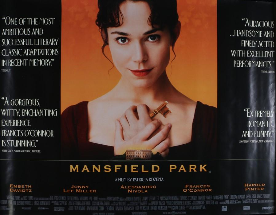 Mansfield Park (1999) - British Quad film poster, starring Frances O'Connor and Jonny Lee Miller,