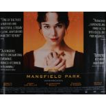 Mansfield Park (1999) - British Quad film poster, starring Frances O'Connor and Jonny Lee Miller,