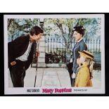 Walt Disney's Mary Poppins (1964) - American lobby card, starring Julie Andrews, Dick Van Dyke,