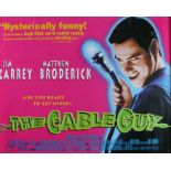 The Cable Guy (1996) - British Quad film poster, starring Jim Carrey, Matthew Broderick, and