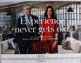 "The Intern (2015) - British Quad film poster, starring Robert De Niro and Anne Hathaway, rolled, 30"""
