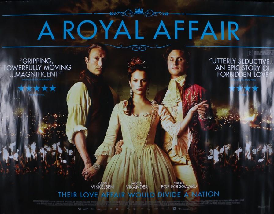 A Royal Affair (2012) - British Quad film poster, starring Mads Mikkelsen, Alicia Vikander and