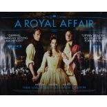 A Royal Affair (2012) - British Quad film poster, starring Mads Mikkelsen, Alicia Vikander and
