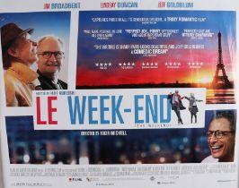 Le Week-End (2013) - British Quad film poster, Lindsay Duncan, Jim Broadbent, and Jeff Goldblum,